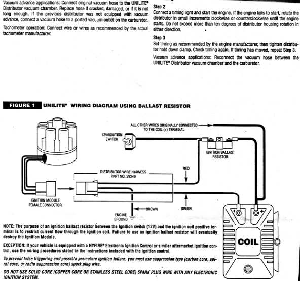 mallory dist wiring diagram ignition  ignition